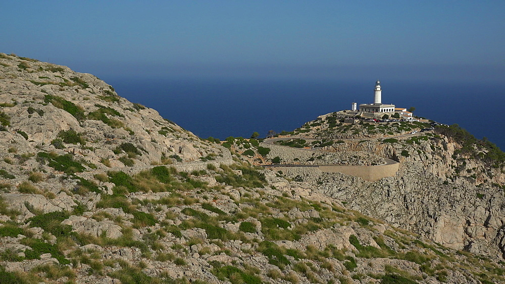 Lighthouse at Cap Formentor, Majorca, Balearic Islands, Spain, Mediterranean, Europe - 396-6123