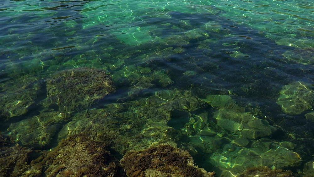 Clear water at Cala Pi de la Posada, Cap de Formentor, Majorca, Balearic Islands, Spain, Mediterranean, Europe