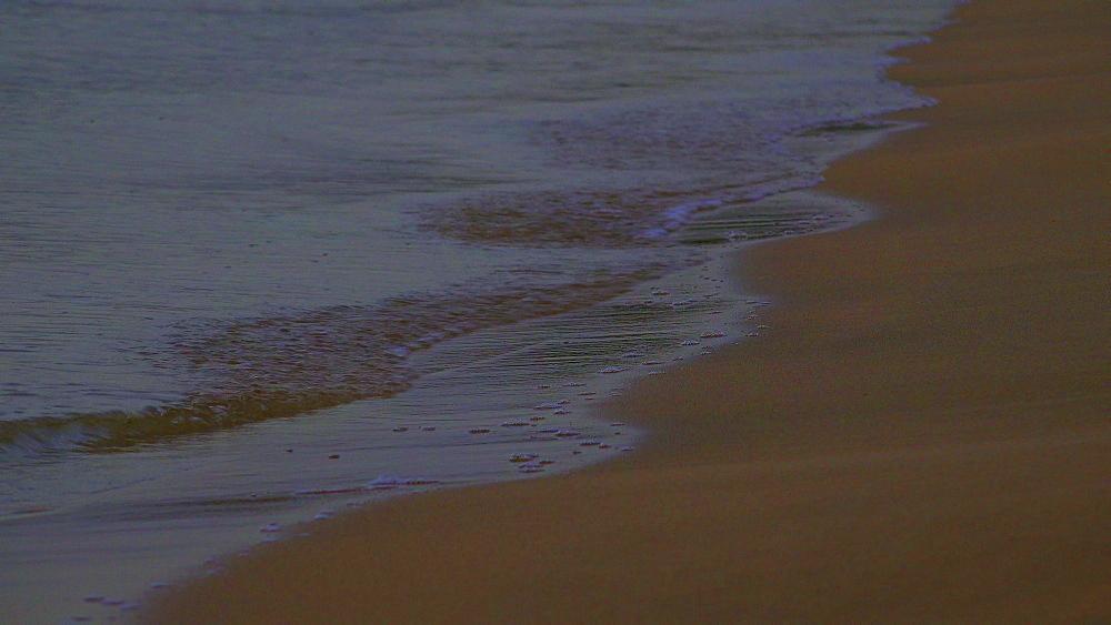 Sea surf at the beach, Puerto Pollenca, Majorca, Balearic Islands, Spain, Mediterranean, Europe