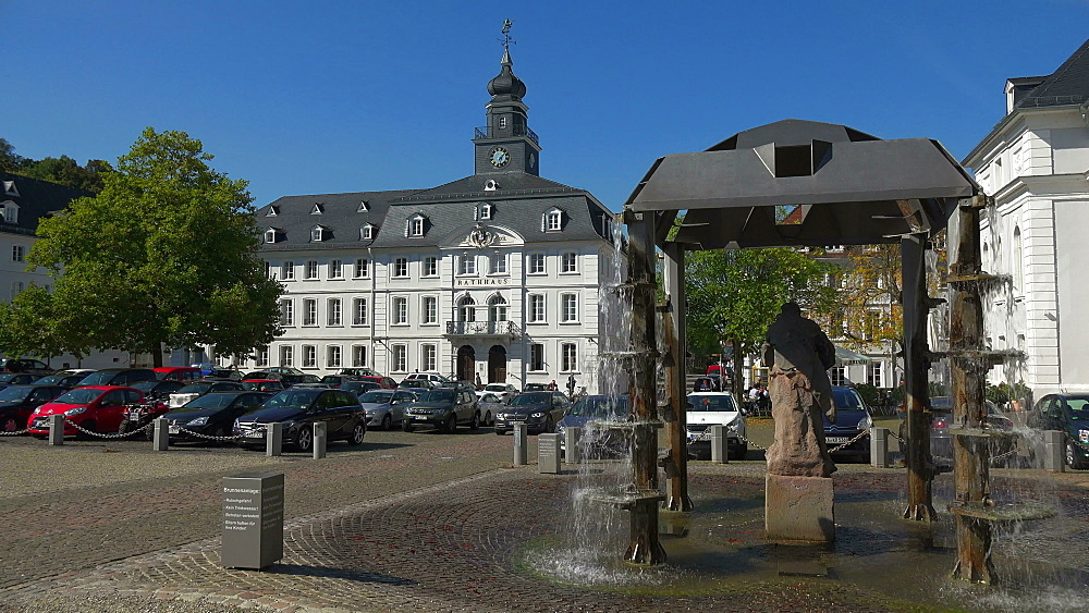 Schlossplatz with Old Town Hall, Saarbrucken, Saarland, Germany, Europe - 396-6268