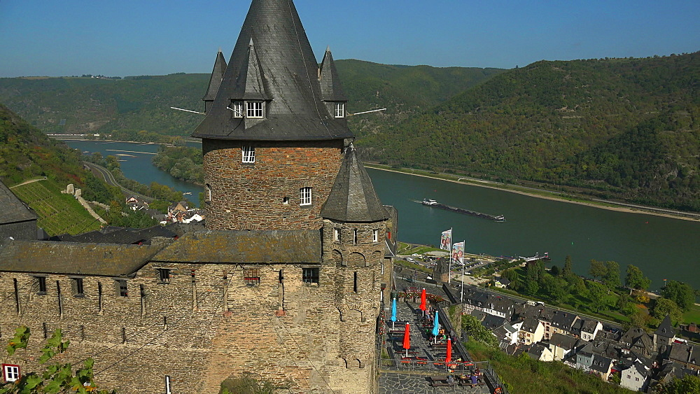 Stahleck Castle, Bacharach, Rhine River, Rhineland-Palatinate, Germany, Europe - 396-6352