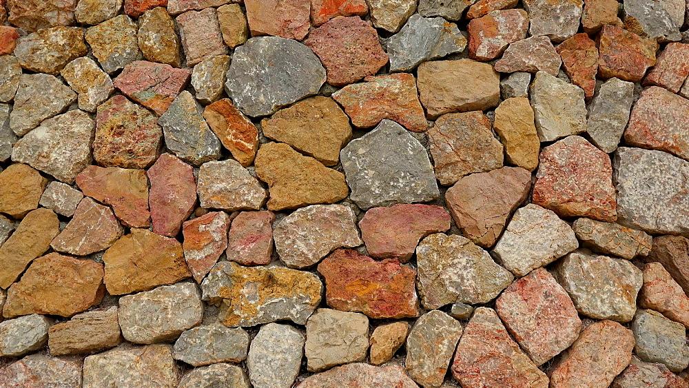 Typical dry stone wall, Majorca, Balearic Islands, Spain, Mediterranean, Europe