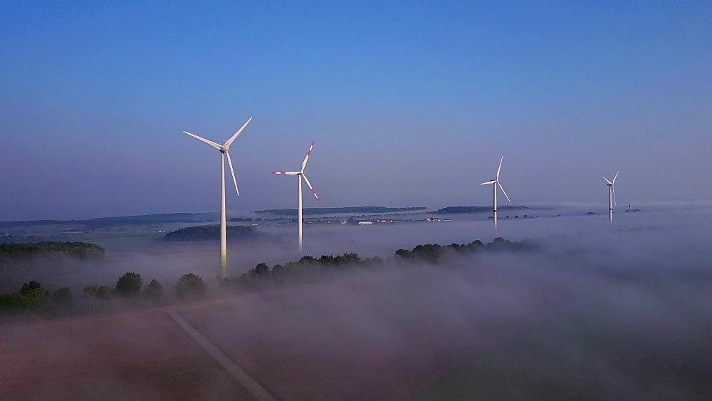 Onshore wind farm, Kirf, Saargau, Rhineland-Palatinate, Germany, Europe - 396-6458
