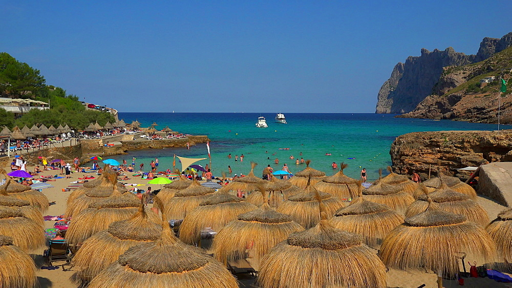 Cala Molins in Cala San Vicente, Majorca, Balearic Islands, Spain, Mediterranean, Europe