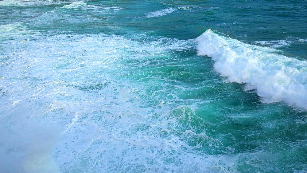 Heavy sea at Cala Clara, Cala San Vicente, Majorca, Balearic Islands, Spain, Mediterranean, Europe