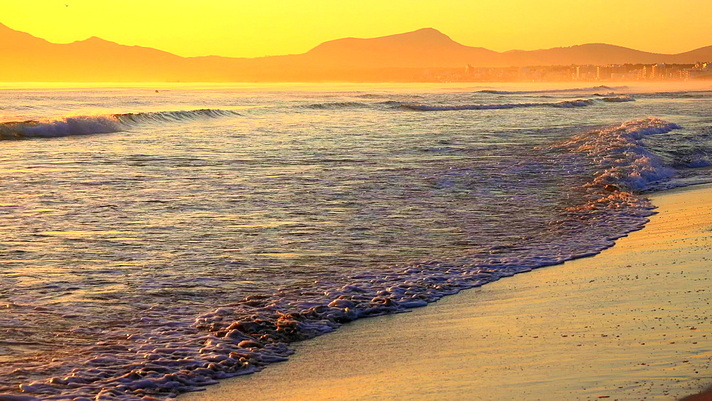 Morning mood at Playa de Muro, Badia d'Alcudia, Majorca, Balearic Islands, Spain, Mediterranean, Europe - 396-6807