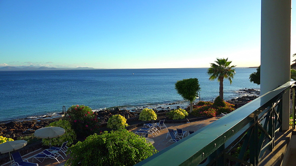 Gardens of Hotel Natura Palace, Playa Blanca, Lanzarote, Canary Islands, Spain, Atlantic, Europe