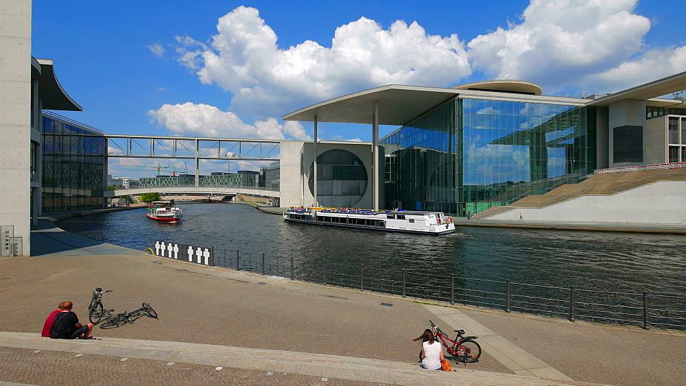 Marie Elisabeth Lueders and Paul Loebe Houses, Spree River, Berlin, Germany, Europe