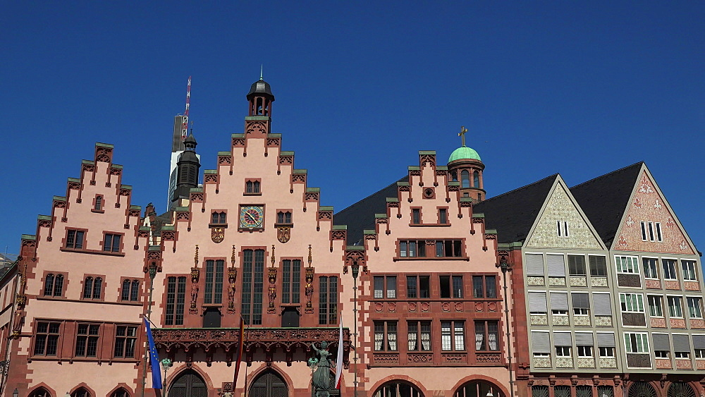 Roemer Town Hall on Roemerberg Square, Frankfurt am Main, Hesse, Germany