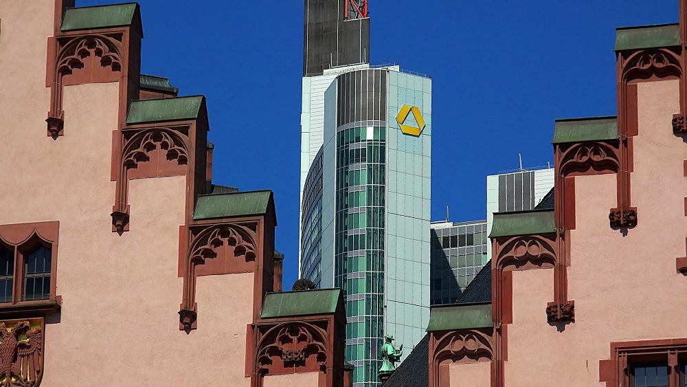 Roemer Town Hall on Roemerberg Square, Frankfurt am Main, Hesse, Germany
