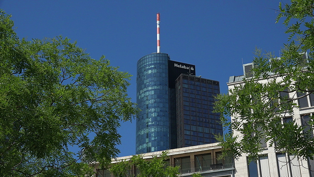 Main Tower, Hessische Landesbank, Financial District, Frankfurt am Main, Hesse, Germany - 396-8951