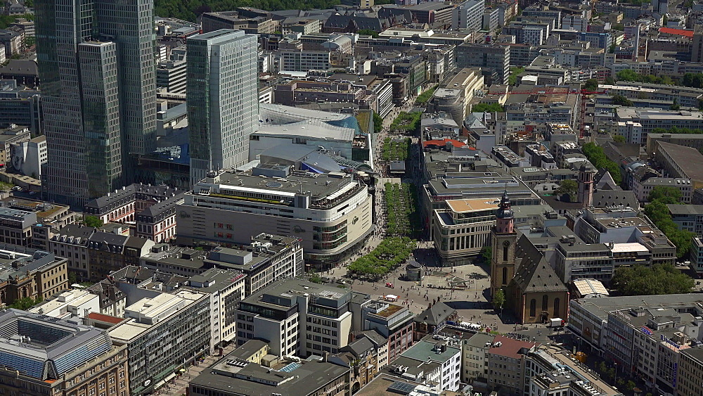 View of the city centre, Frankfurt am Main, Hesse, Germany