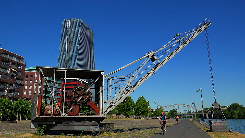 Weseler Werft and European Central Bank, ECB, Frankfurt am Main, Hesse, Germany