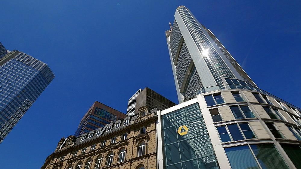 Commerzbank Building at Kaiserplatz, Frankfurt am Main, Hesse, Germany