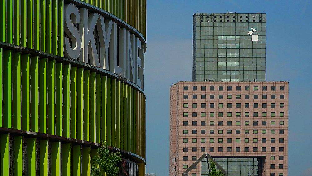 Skyline Plaza Shopping Centre and Messe Torhaus, Frankfurt Fair, Frankfurt am Main, Hesse, Germany
