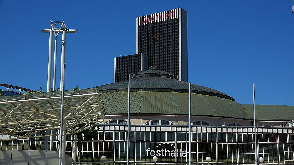Festhalle Frankfurt and Marriot Hotel, Frankfurt am Main, Hesse, Germany