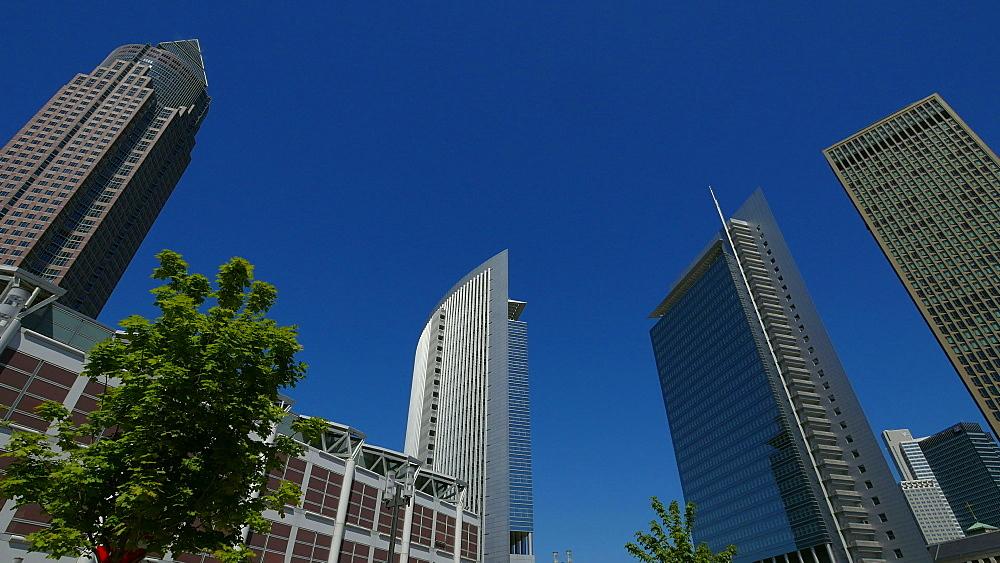 Messeturm, Fair Tower, KT Bank Building and PwC Building, Frankfurt am Main, Hesse, Germany