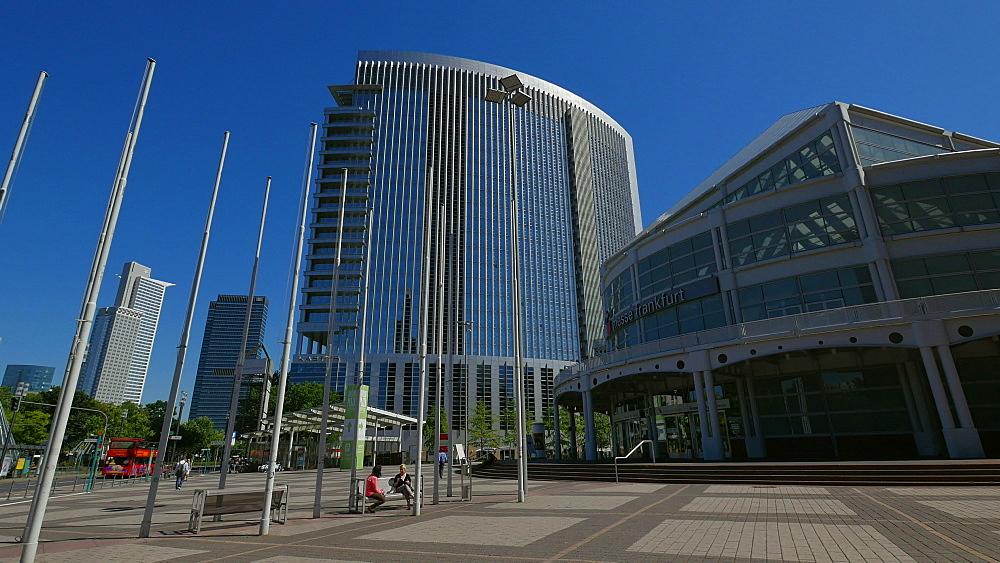 Messe Frankfurt, Frankfurt Fair, and KT Bank Building, Frankfurt am Main, Hesse, Germany
