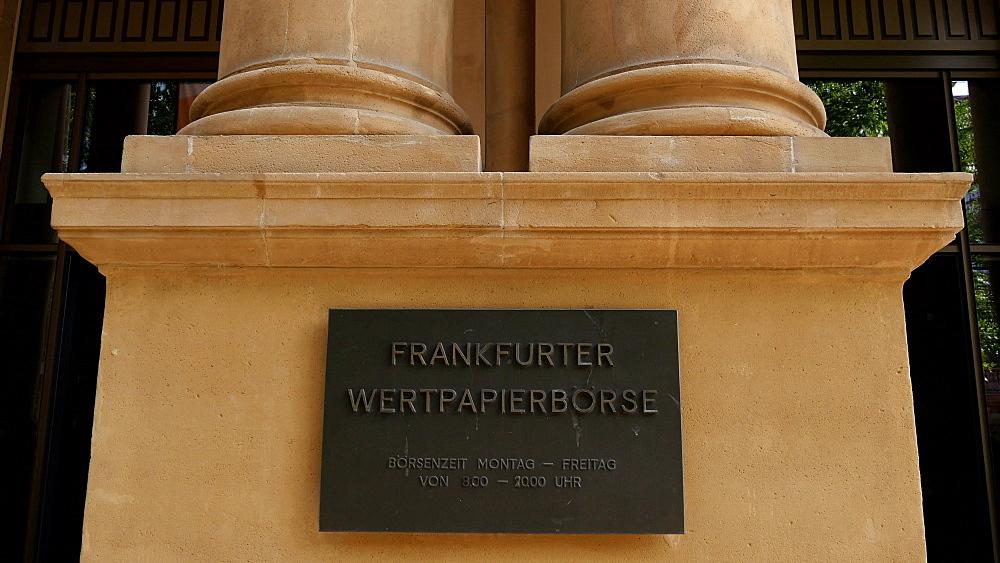Frankfurt Stock Exchange at Boersenplatz, Frankfurt am Main, Hesse, Germany