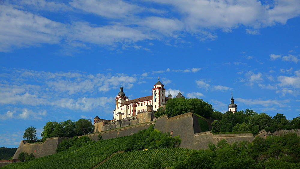 Marienberg Fortress, Wuerzburg, Lower Franconia, Bavaria, Germany - 396-9026