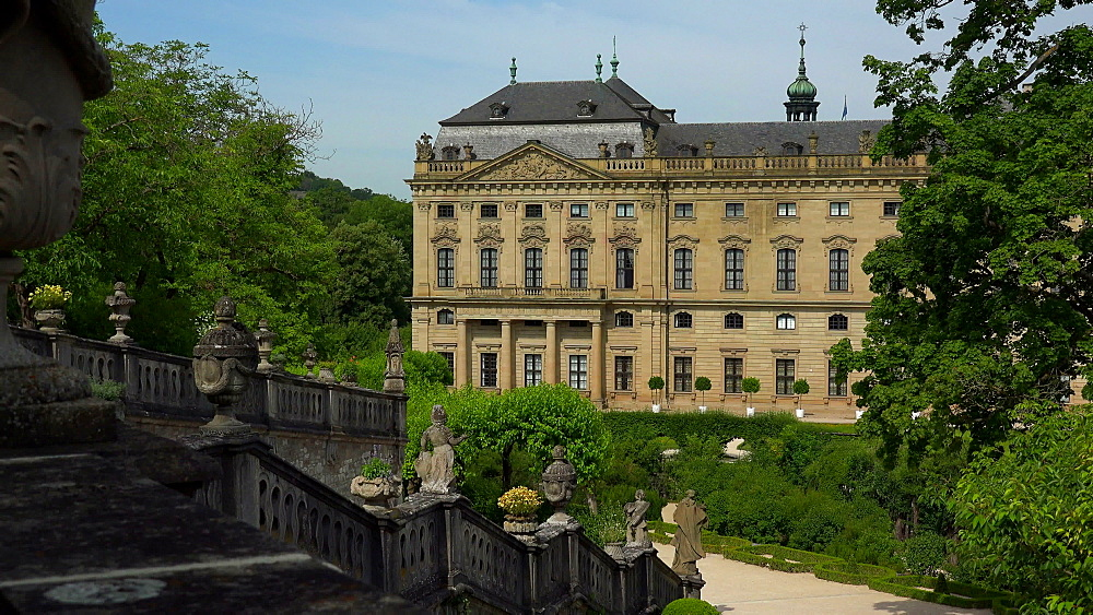 Residence and Hofgarten, Wuerzburg Residence, Wuerzburg, Lower Franconia, Bavaria, Germany - 396-9044