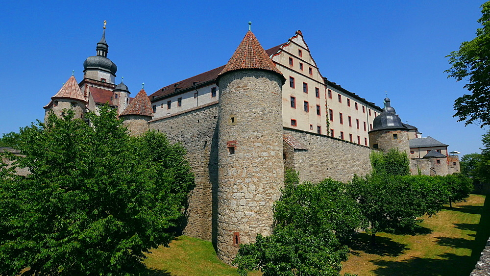Marienberg Fortress, Wuerzburg, Lower Franconia, Bavaria, Germany - 396-9059