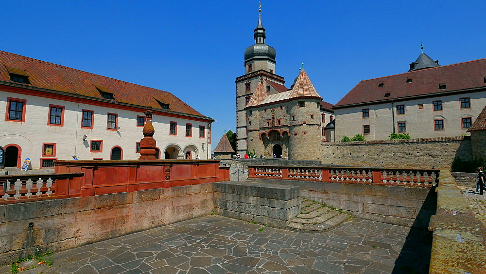 Marienberg Fortress, Wuerzburg, Lower Franconia, Bavaria, Germany