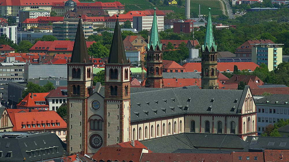 St. Kilians Cathedral, Wuerzburg, Lower Franconia, Bavaria, Germany