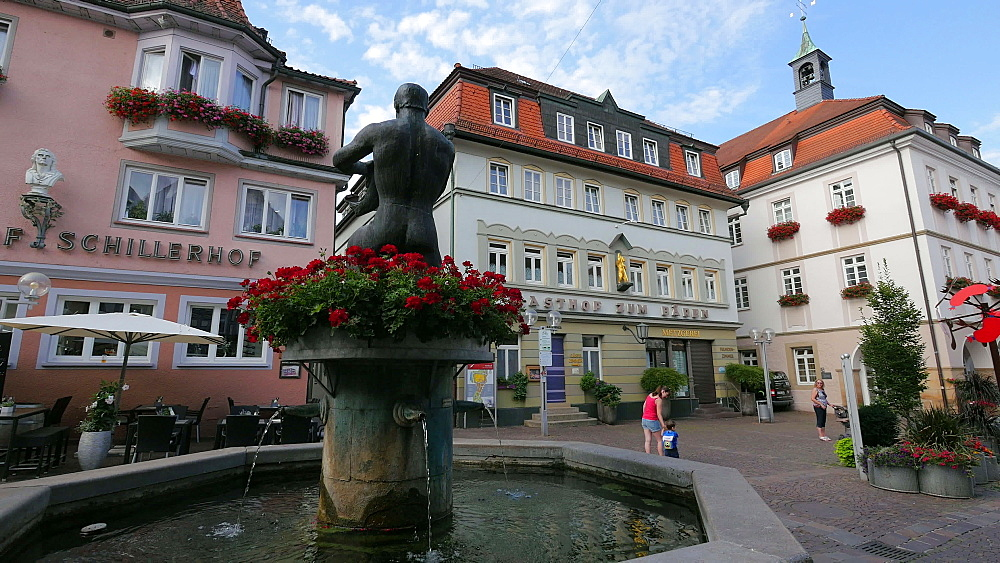 Market square in Marbach am Neckar, Neckar Valley, Baden-Wuerttemberg, Germany - 396-9097