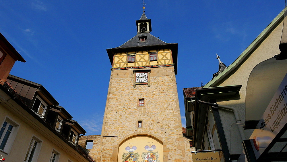 Oberer Torturm tower, Marbach am Neckar, Neckar Valley, Baden-Wuerttemberg, Germany - 396-9099