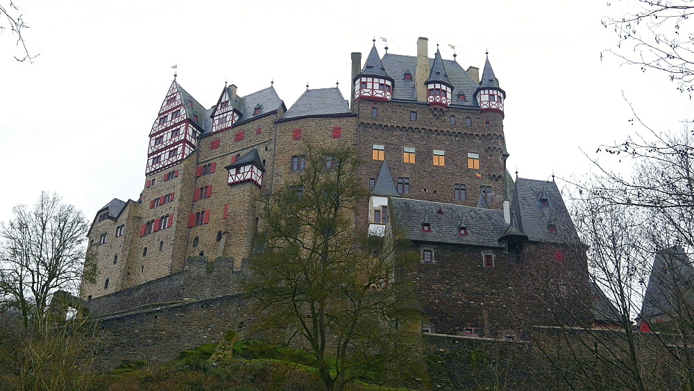 Eltz Castle near Muenstermaifeld, Eifel, Rhineland-Palatinate, Germany