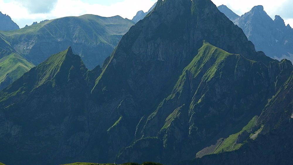Allgaeu Alps with Hoefats Mountain near Oberstdorf, Allg?u, Swabia, Bavaria, Germany