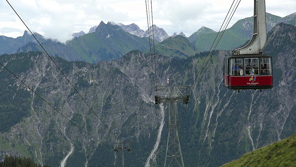 Fellhorn Cable Car, Oberstdorf, Allg?u, Swabia, Bavaria, Germany