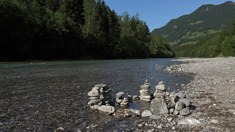 Iller River at Iller-Ursprung near Oberstdorf, Allg?u, Swabia, Bavaria, Germany