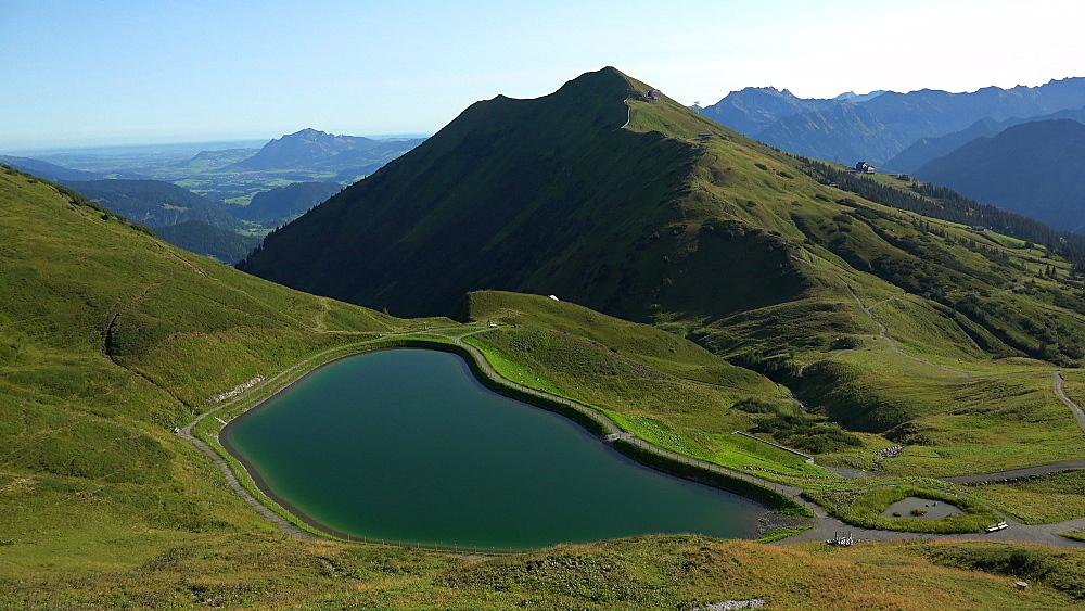 Water reservoir between Kanzelwand (Vorarlberg, Austria) and Fellhorn, Oberstdorf, Allg?u, Swabia, Bavaria, Germany