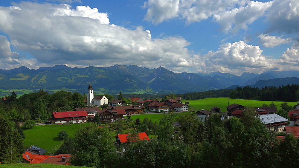 Mountain inn Einoedsbach, Stillach Valley near Oberstdorf, Allg?u, Swabia, Bavaria, Germany