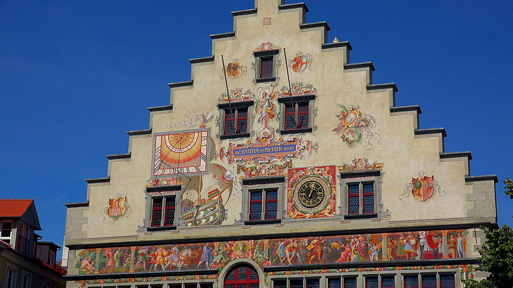 Old town hall, Lindau, Lake Constance, Swabia, Bavaria, Germany