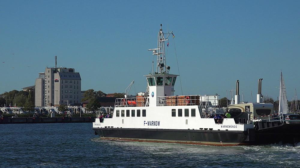 Ferry Hohe Duene-Warnemuende, Warnemuende, Rostock, Mecklenburg-Western Pomerania, Germany