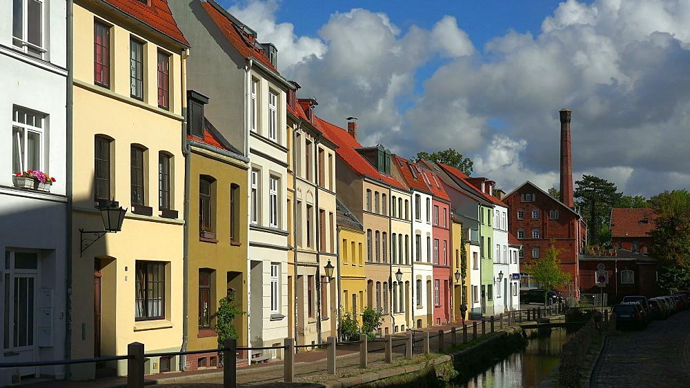 Houses at Muehlengrube, Wismar, Mecklenburg-Western Pomerania, Germany