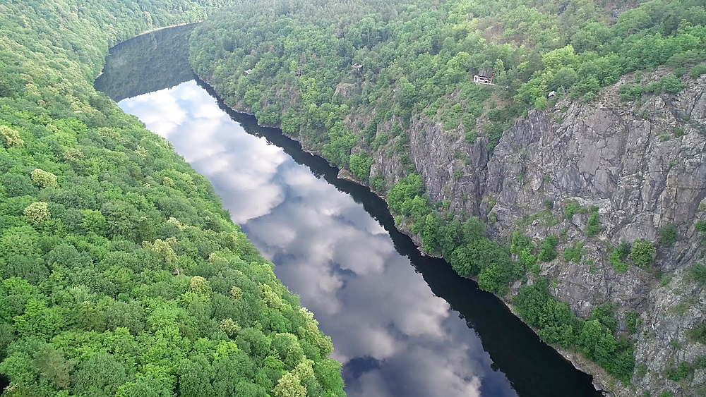 Europe, Czech Republic, Bohemia Vltava River - 733-8084