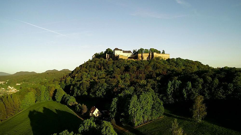 Europe, Germany, Saxony, Konigstein, Festung Konigstein Castle - 733-8090