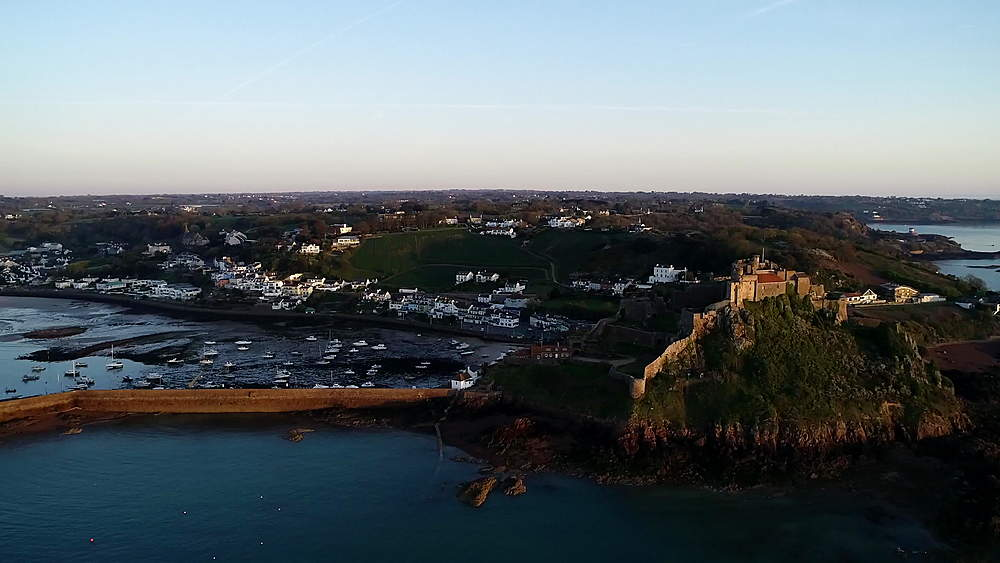 United Kingdom, Channel Islands, Jersey, Gorey, Mont Orgueil Castle (Gorey Castle)