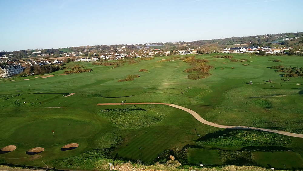 United Kingdom, Channel Islands, Jersey, Gorey, Royal Jersey Golf Course - 733-8095