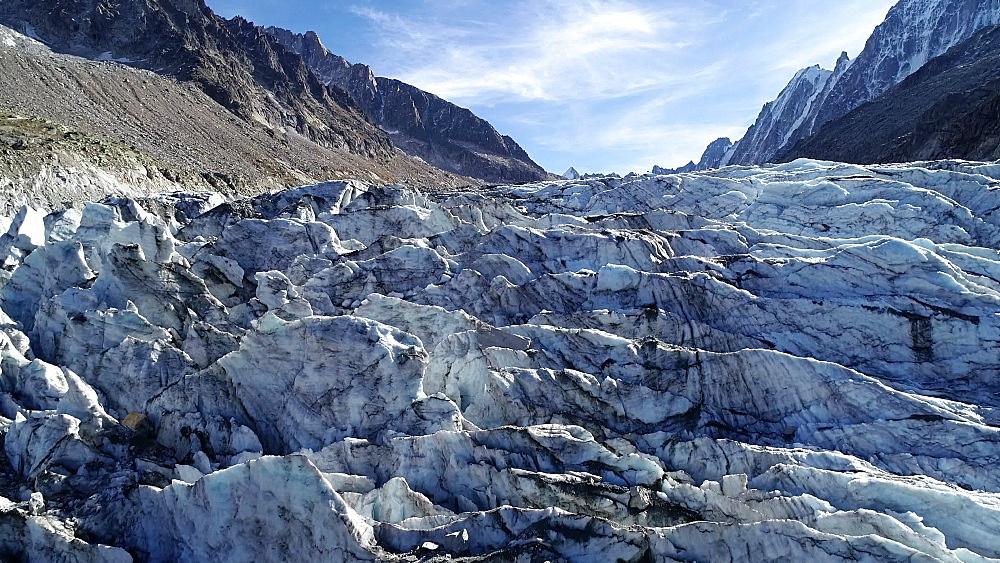 Europe, France, Chamonix, Argentiere Glacier - 733-8117