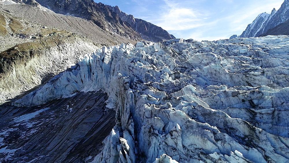 Europe, France, Chamonix, Argentiere Glacier - 733-8118
