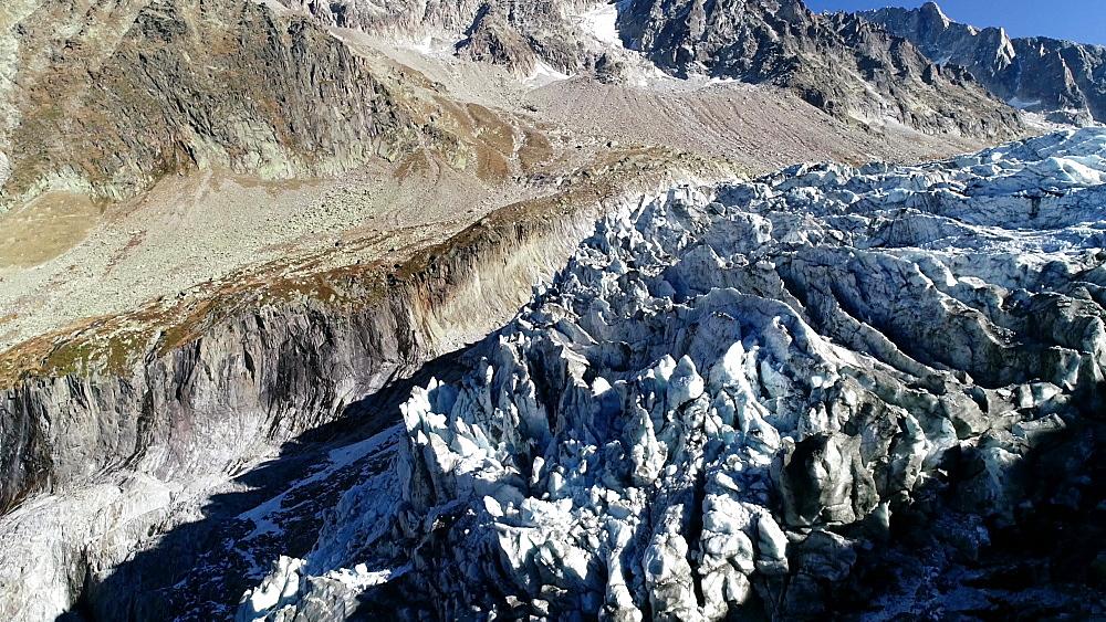 Europe, France, Chamonix, Argentiere Glacier - 733-8119