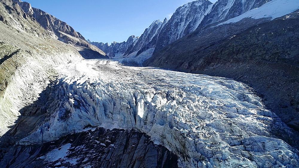 Europe, France, Chamonix, Argentiere Glacier - 733-8121