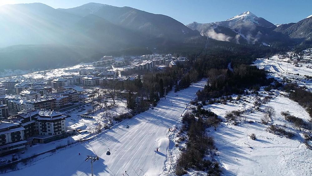 Bansko ski resort home run, Bansko, Bulgaria, Europe