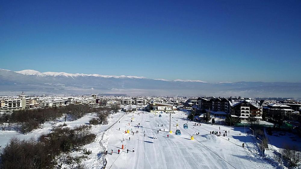 Bansko ski resort home run, Bulgaria, Europe