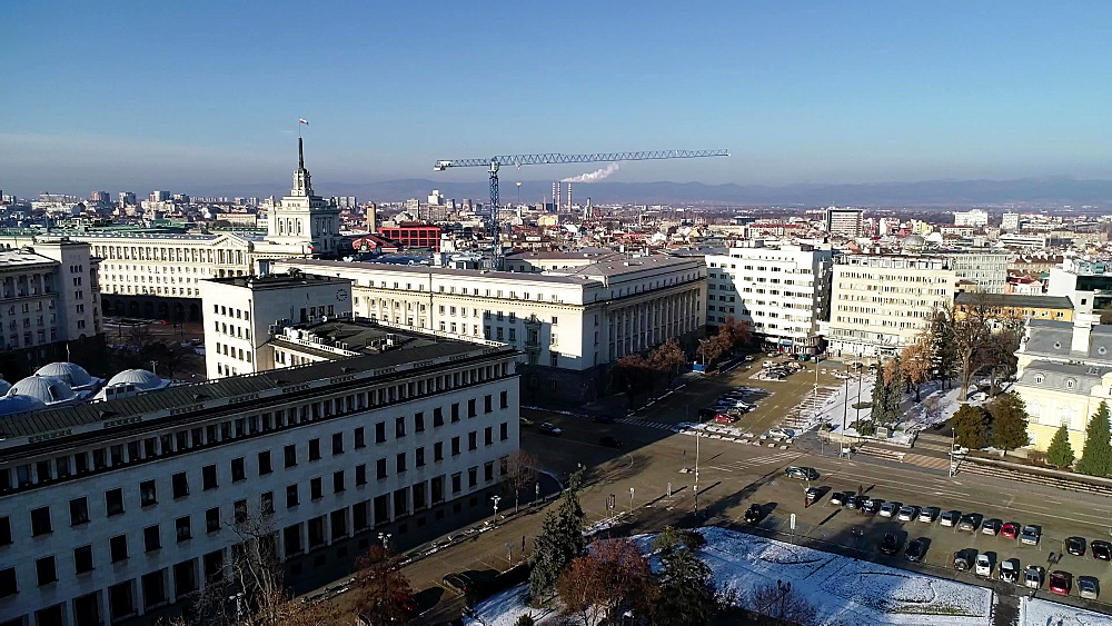 National Assembly building at Serdica and National Art Galley and Royal Palace, Sofia, Bulgaria, Europe